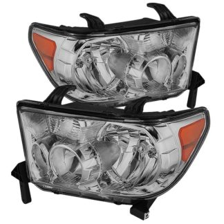 ( OE ) Toyota Tundra 07-13 / Toyota Sequoia 08-13 OEM Style Headlights ( Will Not Fit Model With Headlight Washer ) - Chrome