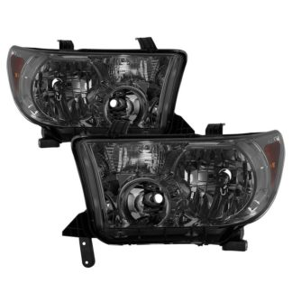 ( xTune ) Toyota Tundra 07-13 / Toyota Sequoia 08-13 OEM Style Headlights ( Will Not Fit Model With Headlight Washer ) - Smoked