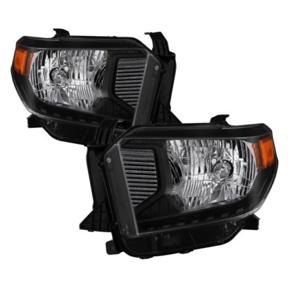 ( xTune ) Toyota Tundra 2014-2017 / 2018 Tundra ( will only fit SR and SR5 Model ) Halogen Models only ( don't fit Models with Daytime Running Light Function ) OEM Style Headlights - Black