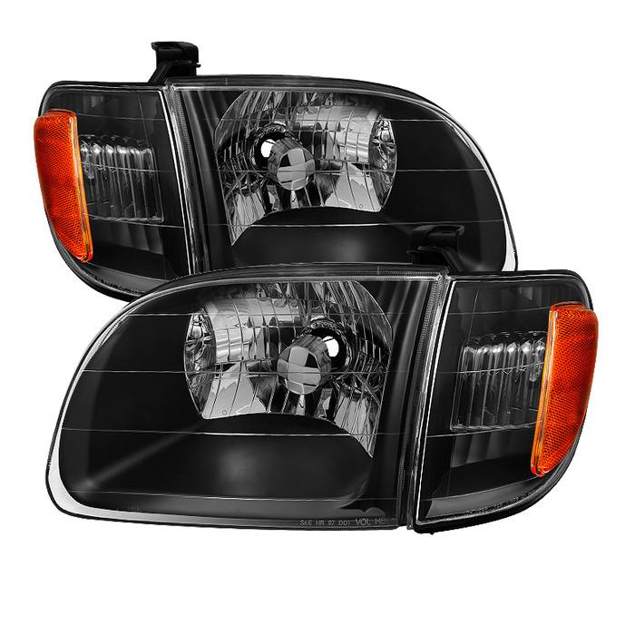 ( xTune ) Toyota Tundra Regular/Access Cab 00-04 ( Don't fit Double Cab Model ) OEM Style Headlights & Corner Lights - Black
