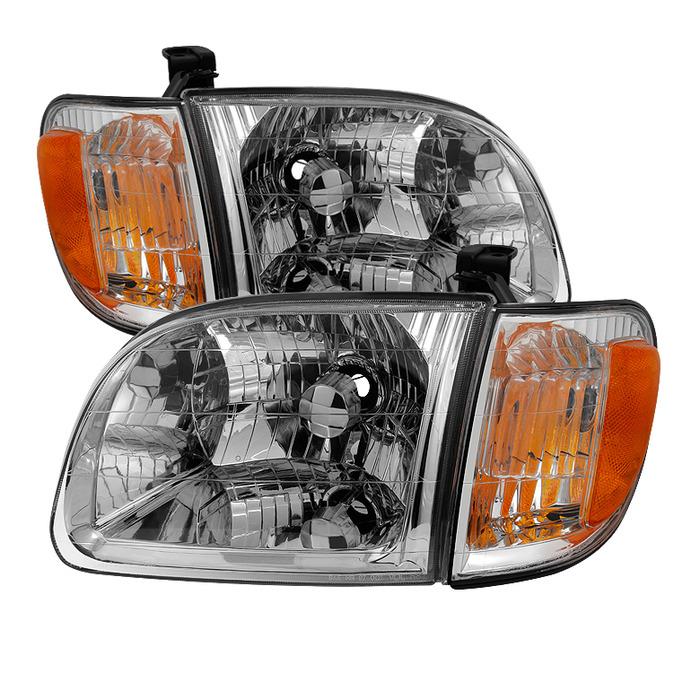 ( OE ) Toyota Tundra Regular/Access Cab 00-04 ( Don't fit Double Cab Model ) OEM Style Headlights & Corner Lights - Chrome