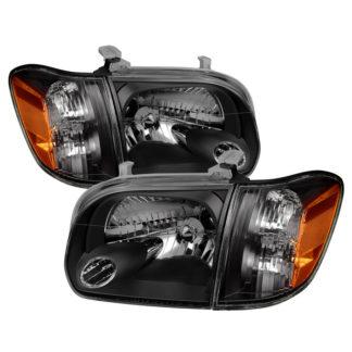 ( xTune ) Toyota Tundra Double Cab 4 Door Only 05-06 / Sequoia 05-07 OEM Style Headlights & Corner Lights - Black