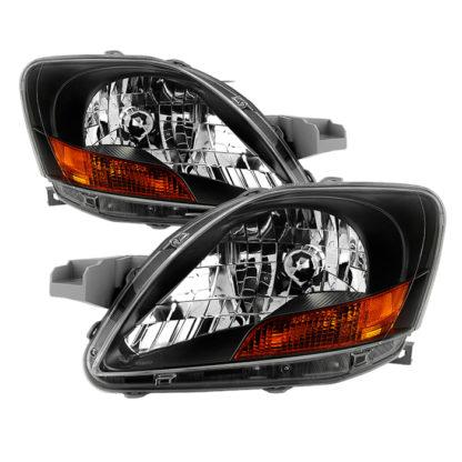 ( xTune ) Toyota Yaris Sedan 06-12 ( Don't Fit 09-12 S Models ) OEM Style Headlights - Black