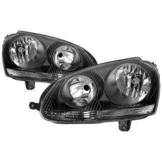( xTune ) VW Golf 06-09 / VW GTI 07-09 / VW Jetta Wagon 09-11 / VW Jetta Sedan 06-09 / VW Rabbit 06-09 Halogen Models Only ( Don't Fit Factory HID Models ) OEM Style Headlights – Black