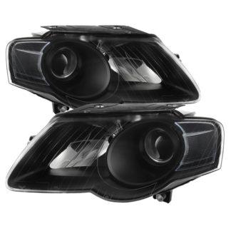( xTune ) Volkswagen Passat 06-10 (Halogen Only) Projector Headlights - Black