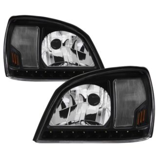 ( xTune ) Cadillac Deville 00-05 Crystal Headlights - Black