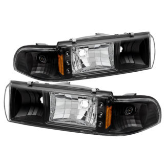 ( xTune ) Chevy Caprice 91-96 / Impala 91-96 1PC LED Crystal Headlights - Black