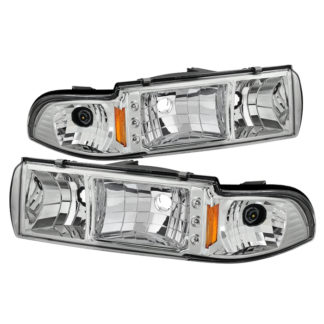 ( xTune ) Chevy Caprice 91-96 / Impala 91-96 1PC LED Crystal Headlights - Chrome