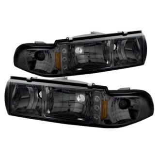 ( xTune ) Chevy Caprice 91-96 / Impala 91-96 1PC LED Crystal Headlights - Smoke