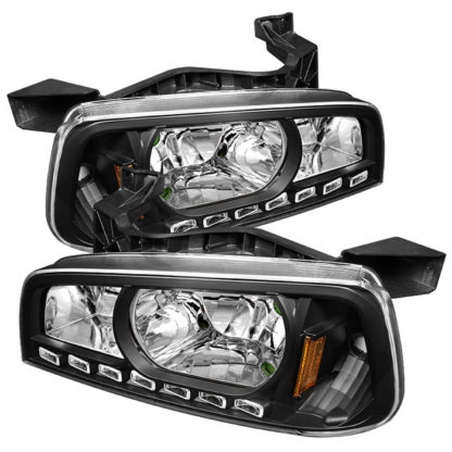 ( xTune ) Dodge Charger 06-10 1PC LED Crystal Headlights - Black