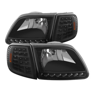 ( xTune ) Ford F150 97-03 / Expedition 97-02 ( Will Not Fit Anything Before Manu. Date June 1997 ) Crystal Headlights W/ Clear LED Corners – Black