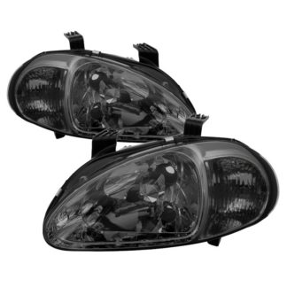 ( xTune ) Honda Del Sol 93-97 1PC Crystal Headlights - Smoke