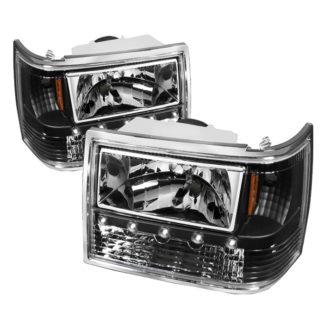 ( xTune ) Jeep Grand Cherokee 93-98 1PC Crystal Headlights - Black