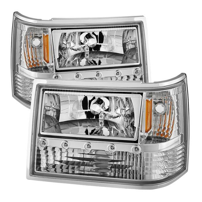 ( xTune ) Jeep Grand Cherokee 93-98 1PC Crystal Headlights - Chrome