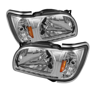 ( xTune ) Toyota Tacoma 01-04 1 Piece with Chrome Trim Corner Crystal Headlights - Chrome