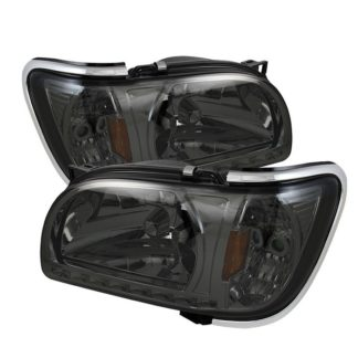 ( xTune ) Toyota Tacoma 01-04 1 Piece with Chrome Trim Corner Crystal Headlights - Smoke