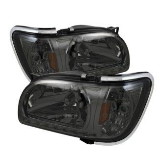 ( xTune ) Toyota Tacoma 01-04 1 Piece with Chrome Trim Corner Crystal Headlights - Smoke