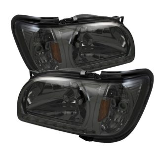 ( xTune ) Toyota Tacoma 01-04 1 Piece with Black Trim Corner Crystal Headlights - Smoke