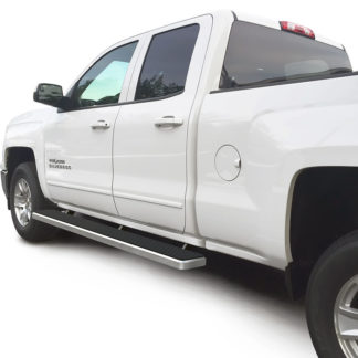 iStep 6 Inch Running Board 2007-2018 Chevy Silverado 1500 Ext Cab/ Double Cab  Hairline Finish