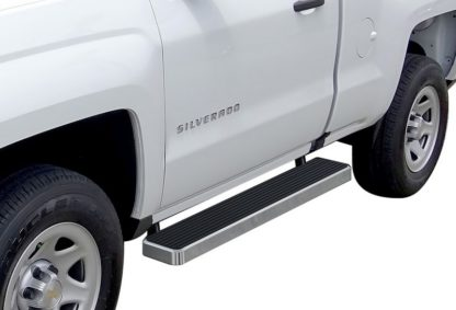 iStep 6 Inch Running Board 2007-2018 GMC Sierra 3500 Regular Cab  Hairline Finish
