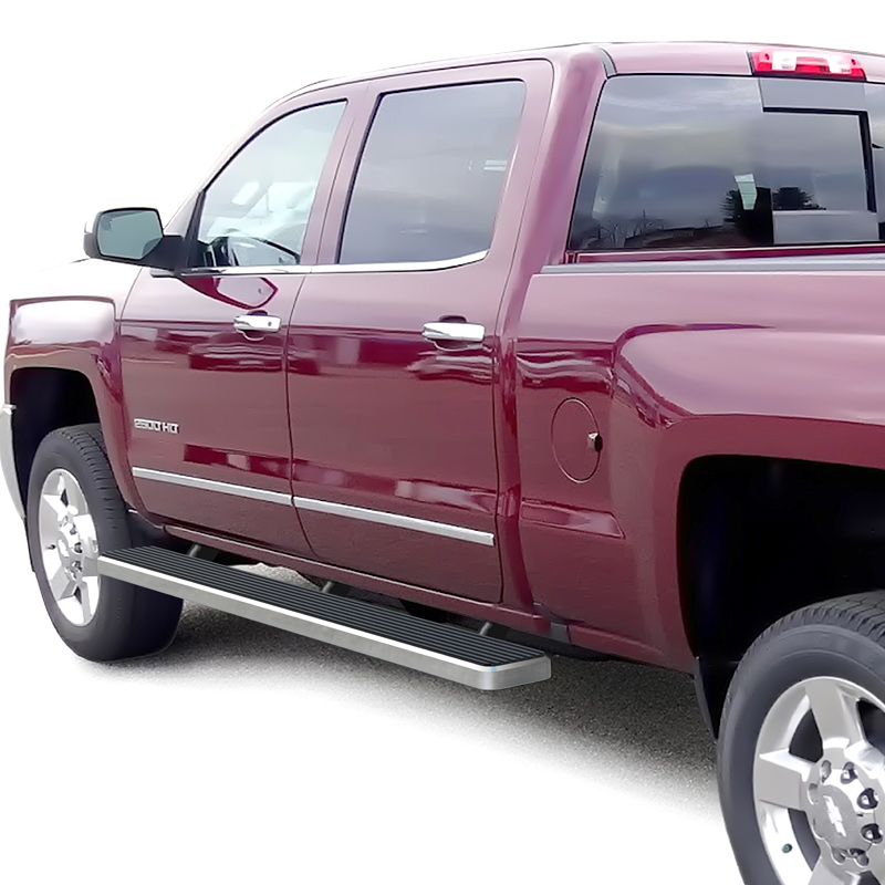 iStep 6 Inch Running Board 2007-2018 GMC Sierra 3500 Crew Cab  Hairline Finish