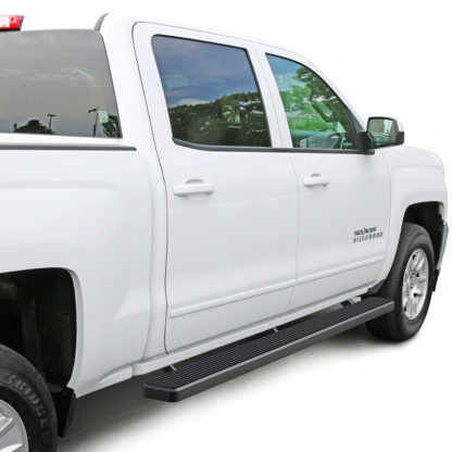 iStep 6 Inch Running Board 2007-2018 GMC Sierra 3500 Crew Cab  Black Finish