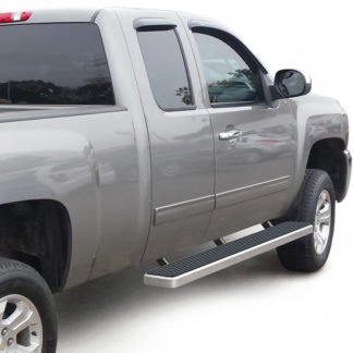 iStep 6 Inch Running Board 2001-2014 GMC Sierra 3500 Ext Cab  Hairline Finish