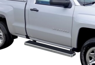 iStep 6 Inch Running Board 1999-2013 GMC Sierra 3500 Regular Cab  Hairline Finish