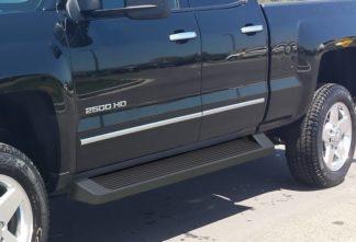 iRunning Board 6 Inch 2007-2018 Chevy Silverado 3500 Double Cab  Black