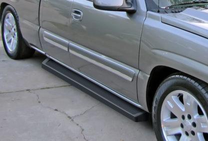 iRunning Board 6 Inch 1999-2007 Chevy Silverado 1500 Extended Cab Black