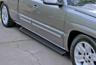 iRunning Board 6 Inch 2001-2007 Chevy Silverado 3500 Extended Cab  Black