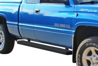 iStep 6 Inch Running Board 1998-2002 Dodge Ram 3500 Quad Cab  Black Finish