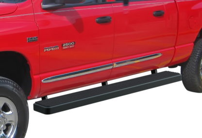 iStep 6 Inch Running Board 2006-2009 Dodge Ram 3500 Mega Cab  Black Finish