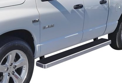 iStep 6 Inch Running Board 2003-2009 Dodge Ram 3500 Quad Cab  Hairline Finish