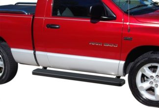 iStep 6 Inch Running Board 2003-2009 Dodge Ram 3500 Regular Cab  Black Finish