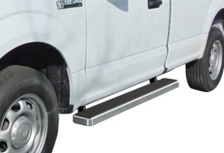iStep 6 Inch Running Board 2017-2018 Ford F-350 Regular Cab  Hairline Finish