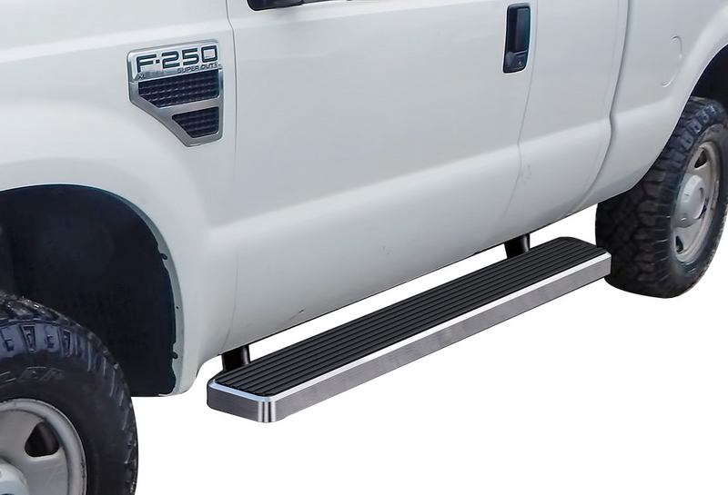 iStep 6 Inch Running Board 1999-2016 Ford F-550 SD Super Cab  Hairline Finish
