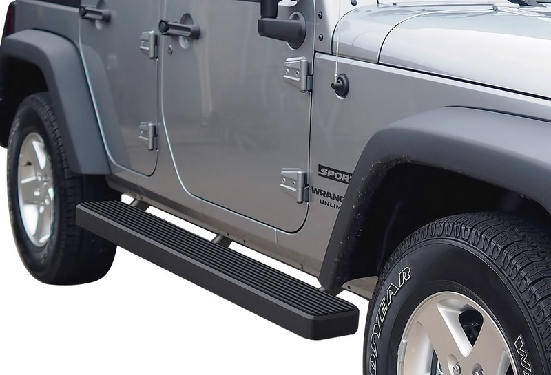 iStep 6 Inch Running Board 2007-2018 Jeep Wrangler JK  Black Finish