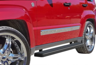 iStep 6 Inch Running Board 2008-2013 Jeep Liberty   Black Finish