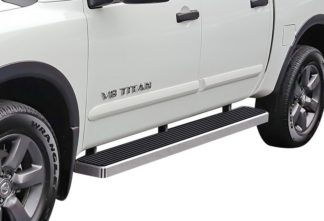iStep 6 Inch Running Board 2004-2018 Nissan Titan Crew Cab  Hairline Finish