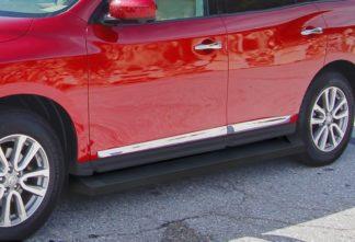 iRunning Board 6 Inch 2013-2018 Nissan Pathfinder   Black