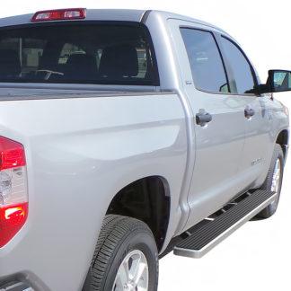 iStep 6 Inch Running Board 2007-2018 Toyota Tundra CrewMax Cab  Hairline Finish