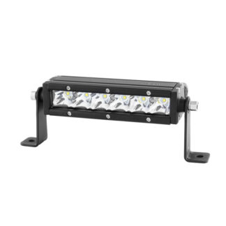 LED Lights Bar - 8 Inch 6 pcs 5W LED / 30W CREE Single Row - Chrome