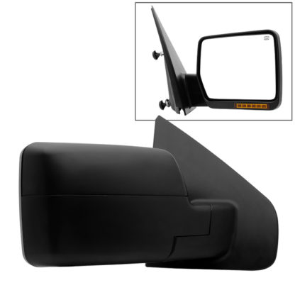 MIR-03348AEBH-P-R Ford F150 04-06 POWER Heated Amber LED Signal OE Mirror - Right