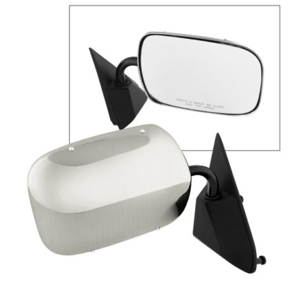 MIR-08028-421-M-R Chevy Blazer 92-94 OE Mirror Stainless Steel Manual - Right | Fit  Chevy/GMC Pickup Truck 88-98 | Chevy/GMC Suburban 92-98 | Chevy Tahoe 95-98 | Chevy/GMC/Tahoe Suburban Old body 5.7L 1999 only | Chevy /GMC Pickup old boyd 5.7L Truck 99-00 | GMC Yukon 92-98 | OE# 15697332    PL# GM1321103