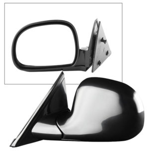 MIR-08039-222-M-L Chevy S10/Blazer 94-02 OE Mirror Black Painted Manual - Left | Fit GMC Sonoma/JIMMY 95-98 | Oldsmobile Bravada 96-98 | Isuzu Hombre Pickup Truck 96-97 | OE# 15150849 PL# GM1320126