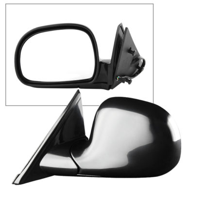 MIR-08039-232-P-L Chevy S10/Blazer 94-02 OE Mirror Black Painted Power - Left | Fit GMC Sonoma/JIMMY 95-98 | Oldsmobile Bravada 96-98 | Isuzu Hombre Pickup Truck 96-97 | OE# 15150851 PL# GM1320127