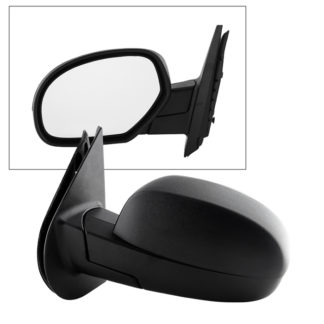 MIR-08042-D52-P-L Chevy Silverado 08-13 OE Mirror Textured Power Heated - Left | Fit Chevy Suburban/Tahoe 07-14 | Chevy Avalanche 07-13 | GMC Sierra 08-13 | GMC Yukon Denali / XL 07-14 | Cadillac Escalade ESV 07-14 | OE# 15100733 25775844 ?PL# GM1320325