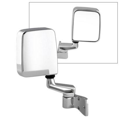 MIR-25001-121-M-R Jeep Wrangler 87-02 OE Mirror Chrome Manual - Right | PL# CH1321189