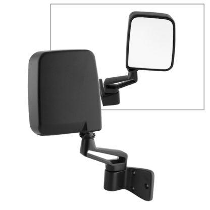 MIR-25001-221-M-R Jeep Wrangler 87-02 OE Mirror Black Manual - Right | OE# 55027208   PL# CH1321102